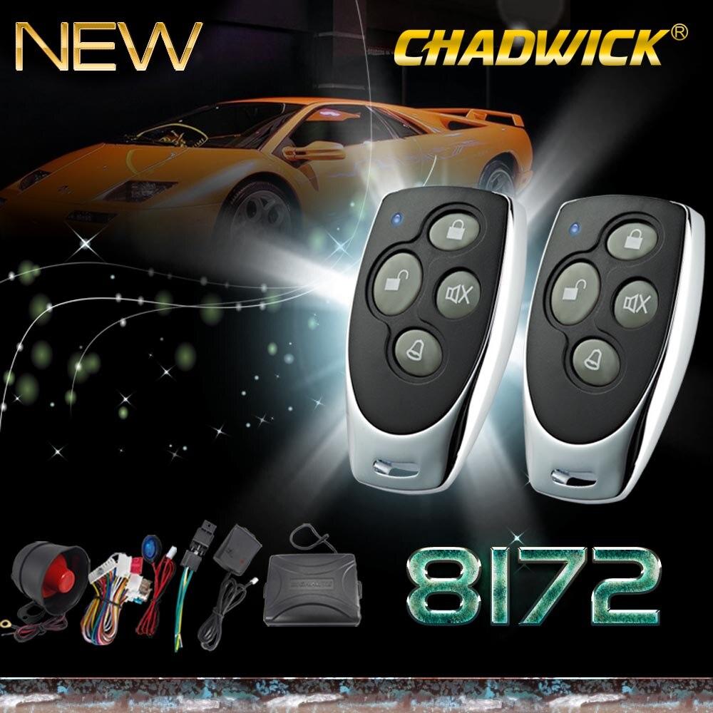 Système d'alarme de voiture universel sans clé entrée sécurité automatique avec sirène 2 télécommande centrale porte verrouillage verrouillage contrôle chaud 8172 CHADWICK