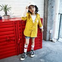Çocuk Rüzgarlıklar Bebek Kız Sonbahar Ceketler Trençkot Çocuklar 2017 Spor Karikatür Donald Duck Kabanlar Kapşonlu Palto