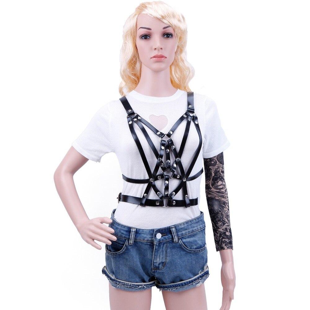 HARNESS For Women Luxury Hot Sexy Punk Belt Cross Body Fashion Street Style Waist Belts Around Neck For Free Shipping