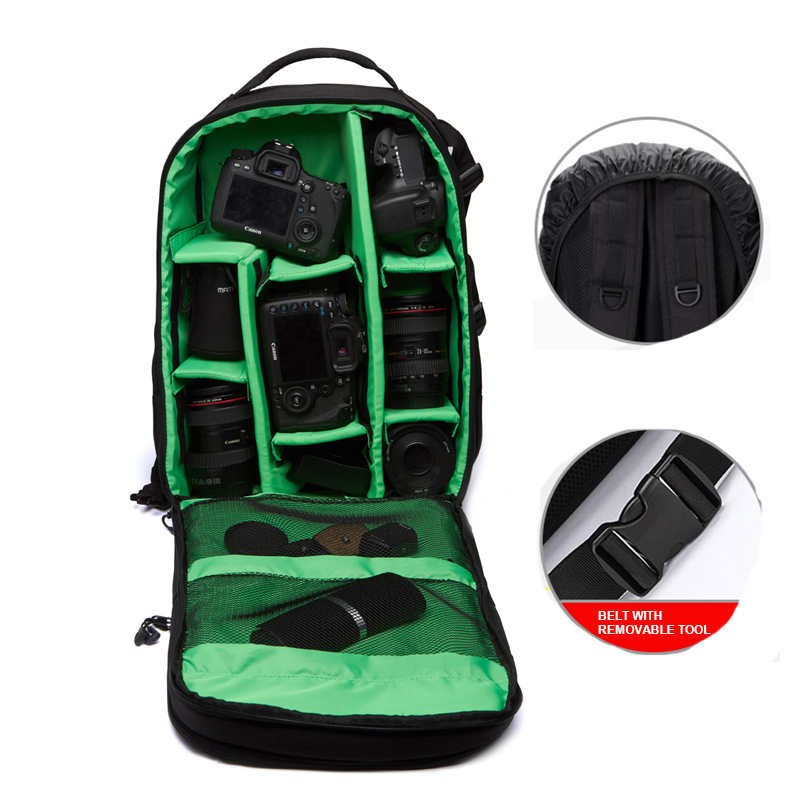 Coloful Waterproof Video Photo Cover Digital DSLR Camera Padded Backpack Bag Case Big Bags for Canon For Nikon DSLR PAD Tripod caden m5 camera bag backpack waterproof canvas gray photo video carry case digital camera case for dslr canon nikon