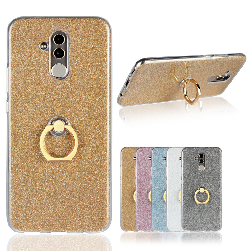 Bling Bling TPU Soft Cover For Huawei Mate 20 Lite SNE-LX1 With Ring Bracket
