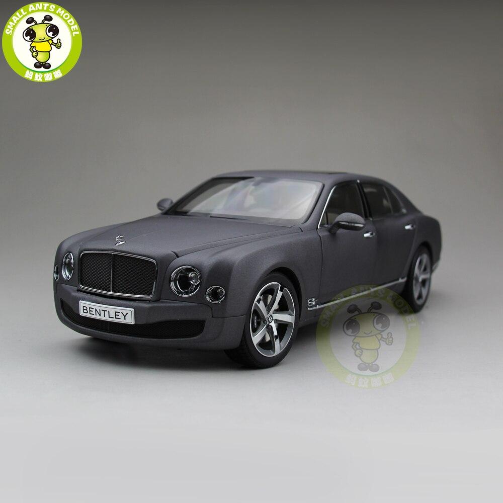 1/18 Kyosho Bentley Mulsanne Speed Diecast Metal Model car toy Boy Girl Gift Collection Hobby Matte Black