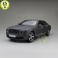 1/18 Kyosho Bentley Mulsanne Speed Diecast Metal Model car toy Boy Girl Gift Collection Hobby Matte Black