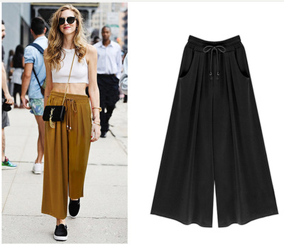 ZOGAA Women's   Wide     Leg     Pants   2019 Summer Loose Harem   Pants   Comfort Casual Bell Bottom   Pants   Plus Size 5XL   Wide     Pants   Lady