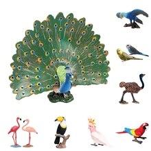 On Sale Simulation Mini Parrot Bird Figure Model Figurine Home Decor Miniature Fairy Garden Decoration Accessories Modern Statue