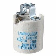 Soporte de lámpara de cerámica 110v 220v E27 accesorio de base de toma de luz adaptador de tapa de tornillo Convertidor para lámpara de bombilla Edison Retro Vintage