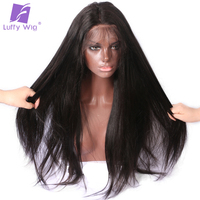 Luffy Real 250% Density Malaysian Silky Straight 5*4.5 Silk Base Lace Front Human Hair Wigs With Baby Hair Pre Plucked Non Remy