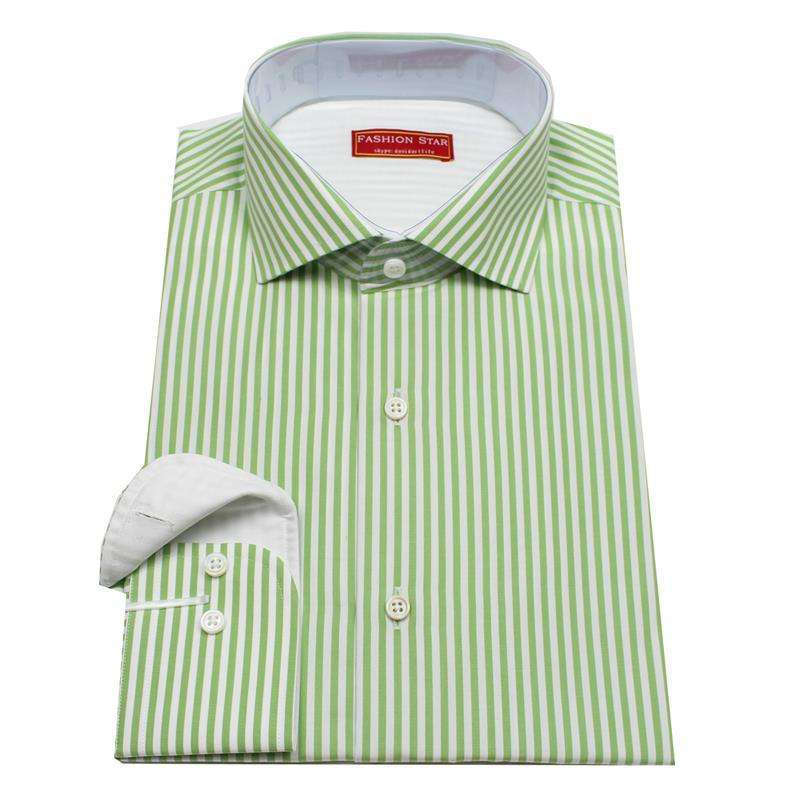 Aliexpress.com : Buy bold stripe hexagon cuff dress shirt , green ...