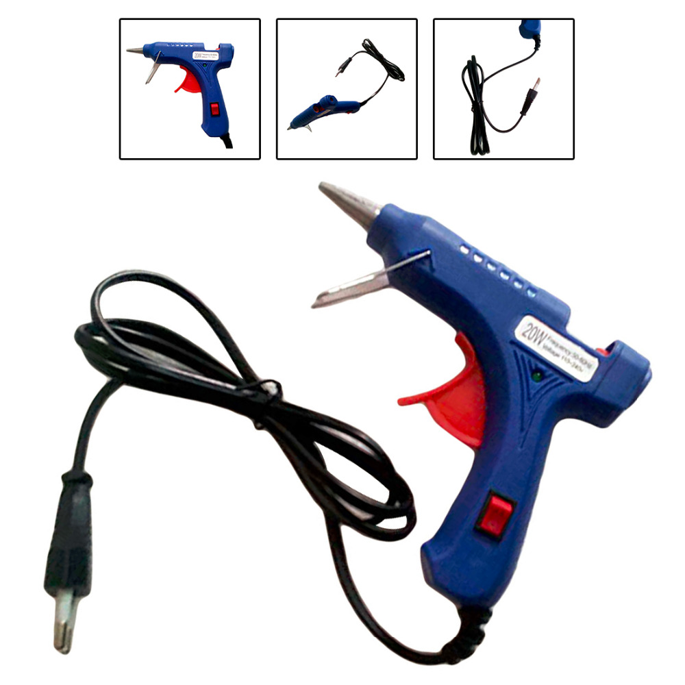 Мини пистолеты термо Электрический Gluegun тепла температура инструмент Вт 20 Вт ЕС Plug термоклей пистолет IndustrialGraft ремонт инструмент