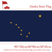 Free shipping Alaska State Flag 90*150cm/60*90cm/30*45cm America For Celebratio Decoration