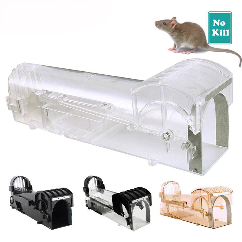 2019 New Catch Mouse Trap Bait Transparent Hamster Cage Humane Direct Mousetrap Mouse Killer Fly Trap
