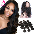 360 Lace Fronatl With Bundles 7A Lace Frontal Closure With Bundles Body Wave With Closure Brazilian Virgin Hair With Closure