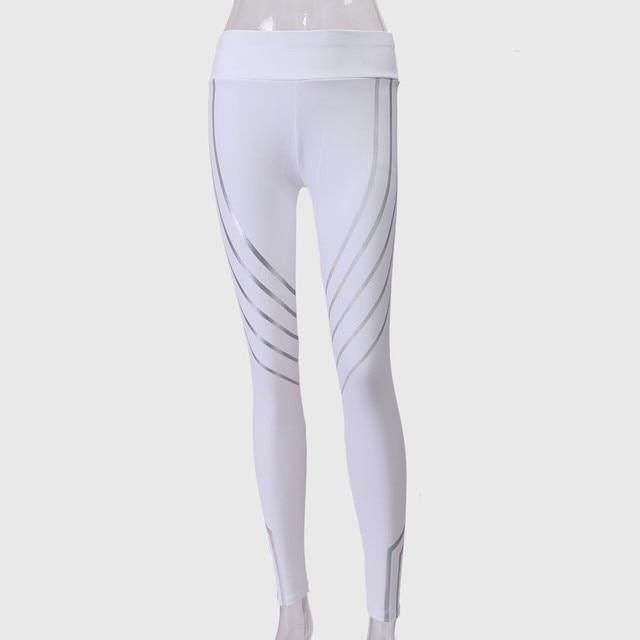 34dd844ec958 Women Yoga Pants Leggings Elbows Fitness Tights Women Waist Yoga Fitness  Leggings Running Gym Stretch Sports Pants Trousers