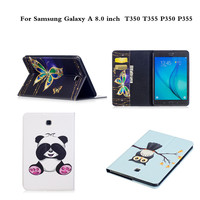 Painting PU Leather Cute Cartoon Stand Case For Samsung Galaxy Tab A 8 0 Inch T350