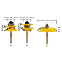 3pcs Lot New 1 4 Shank Ogee Raised Panel And Rail Stile Router Bits Set For