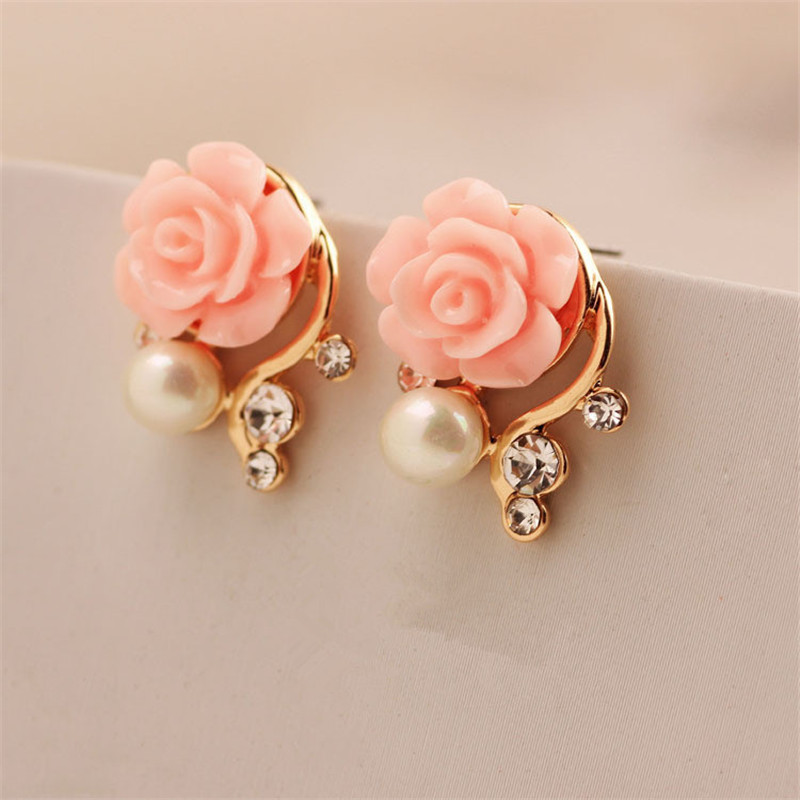 25f7f405c8 Fashion Imitation Pearl Earrings Small Daisy Flowers Hanging After ...