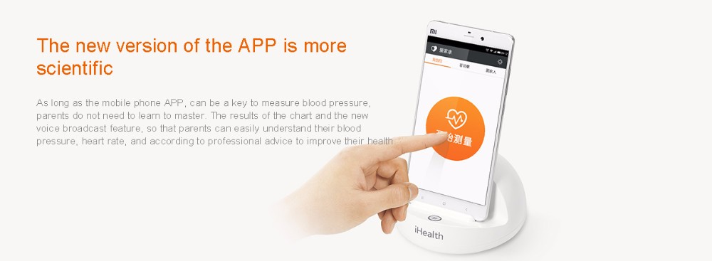 Xiaomi iHealth Smart Blood Pressure Bluetooth version Meters Dock Monitoring System For xiaomi Smart home Miijia Mi home app