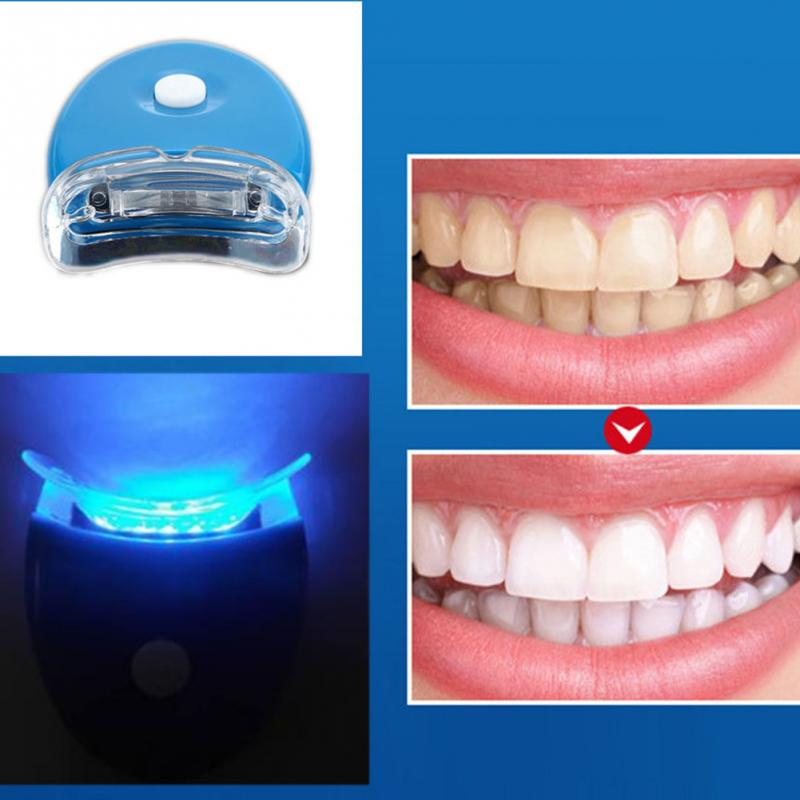 Mini Brand New Teeth Whitening Light LED Laser Dental Bleaching Tooth Dental Care Removal Smoke Tea Yellow Stains Plaque Tools