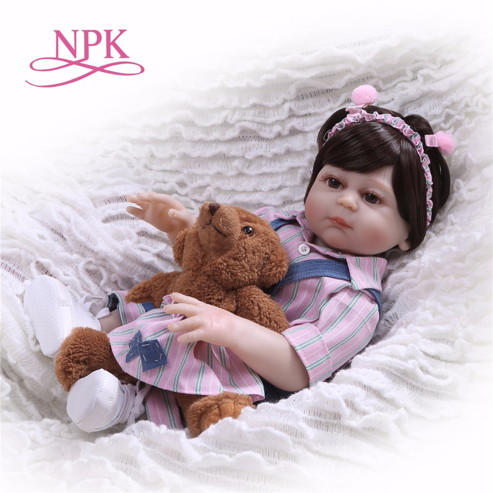 NPK 19 Inch full body soft silicone bebes Reborn Baby Doll Touch Real fashion children s
