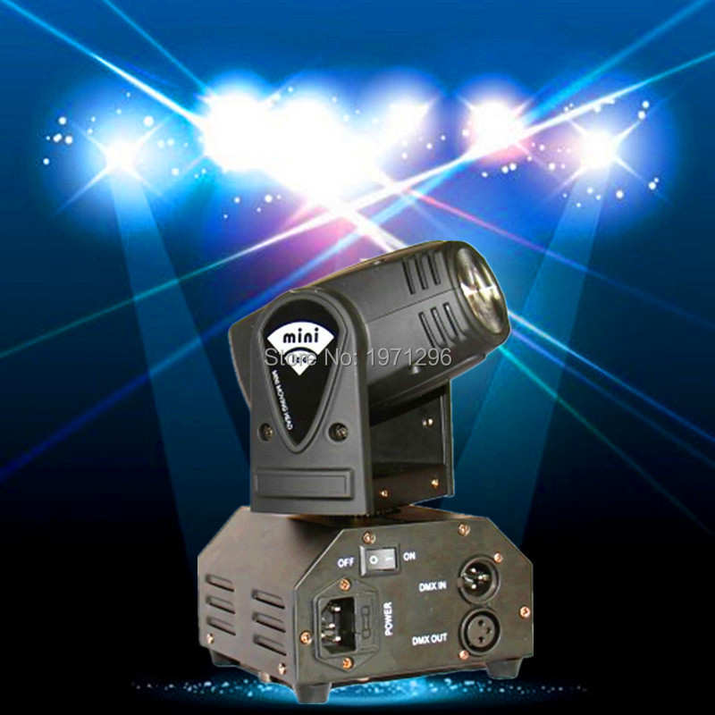 ФОТО 8pcs/lot 10W LED Stage DJ Lighting Moving Head DMX 512 Light Beam For Party Light High Quality Disco Effect Light