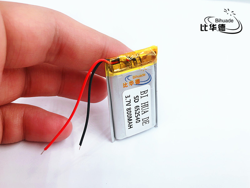 li-po 1PCS <font><b>652540</b></font> 3.7V 800mah Lithium polymer Battery With Protection Board For MP3 MP4 MP5 GPS Glass Digital Product image