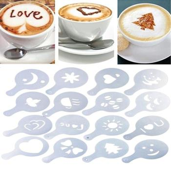 Coffee Latte Cappuccino Art Stencils Template