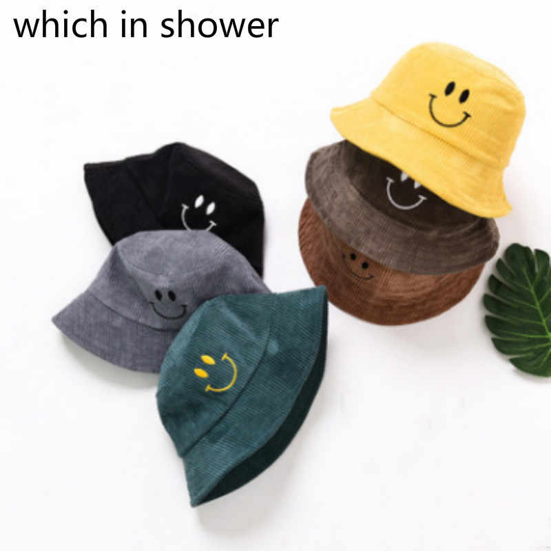 a7e8c342c Children Cartoon Smile Face Winter Bucket Hat Outdoor Windproof ...