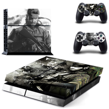 Vinyl Decal Skin Sticker Cover of METAL GEAR SOLID for Sony PS4 PlayStation 4 and 2 controller skins