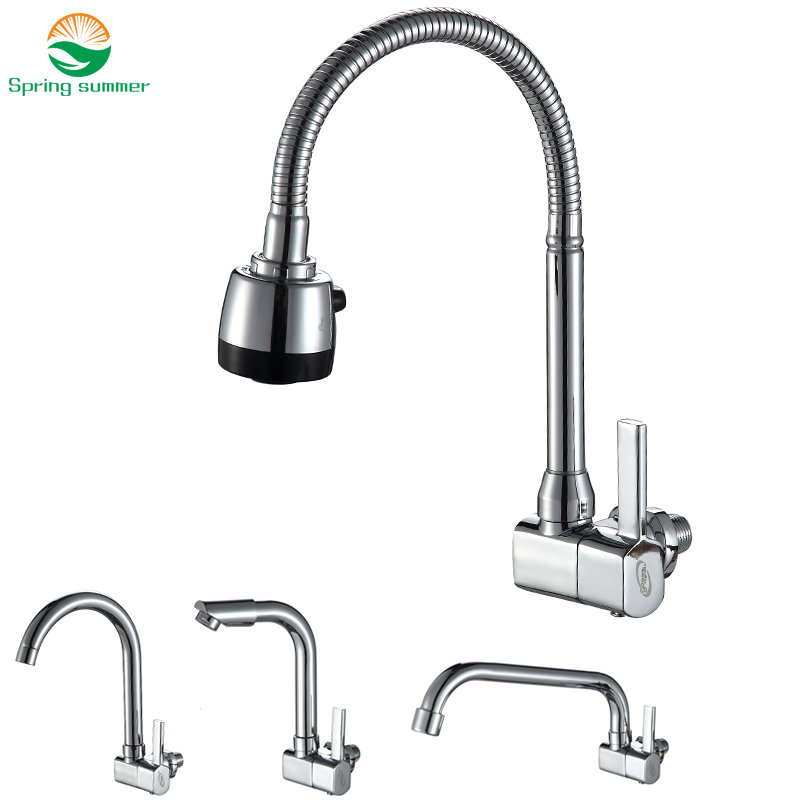 360 degree revolving single cold wall faucet Cold Kitchen Faucet, single Cold Sink Tap, torneira Cold Kitchen Tap