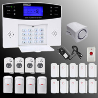 Wireless GSM Home Security Burglar Alarm System Auto Dialer Touch Keypad Support Multi Remote Controllers Alarm with Doorbell