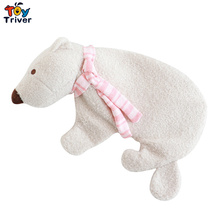 Portable Polar Bear Toy Hot Water Bottle Storage Bag Thick High Density Rubber Hand Warming Winter Gift Triver Drop Ship