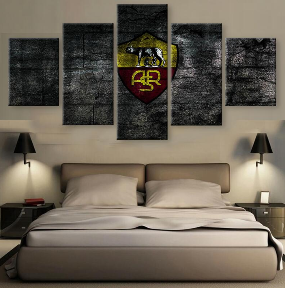 5 Panel Canvas Printed Serie A As Roma Painting For Living Picture Wall Art Hd Decor