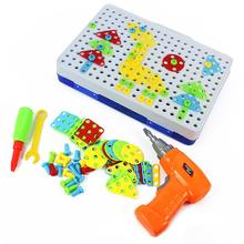 HobbyLane 240PCS/Set Children Education Jigsaw Puzzle Platter Electric Drill Pattern DIY Toy for Kids