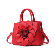 2d77af03e8a62 3D Flowers PU Fashion Floral Casual Women Totes and Designer Inspired  Handbags Ladies Tote Bag Shoulder