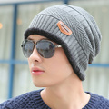 men knitted beanies hat for winter two style  hat skullies winter hat beanies knitted wool hip