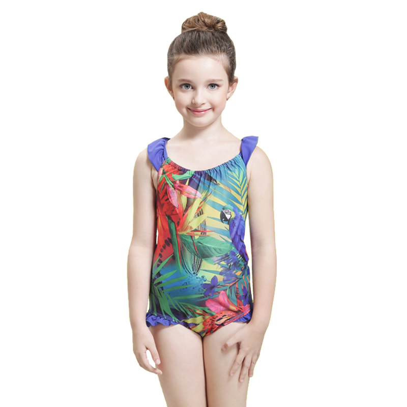 One Piece Childrens Swimsuit Girls Cute One Piece -6485