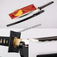Handmade 1045 Carbon Steel Samurai Sword Katana Square Dragon Tsuba Sharp Edge