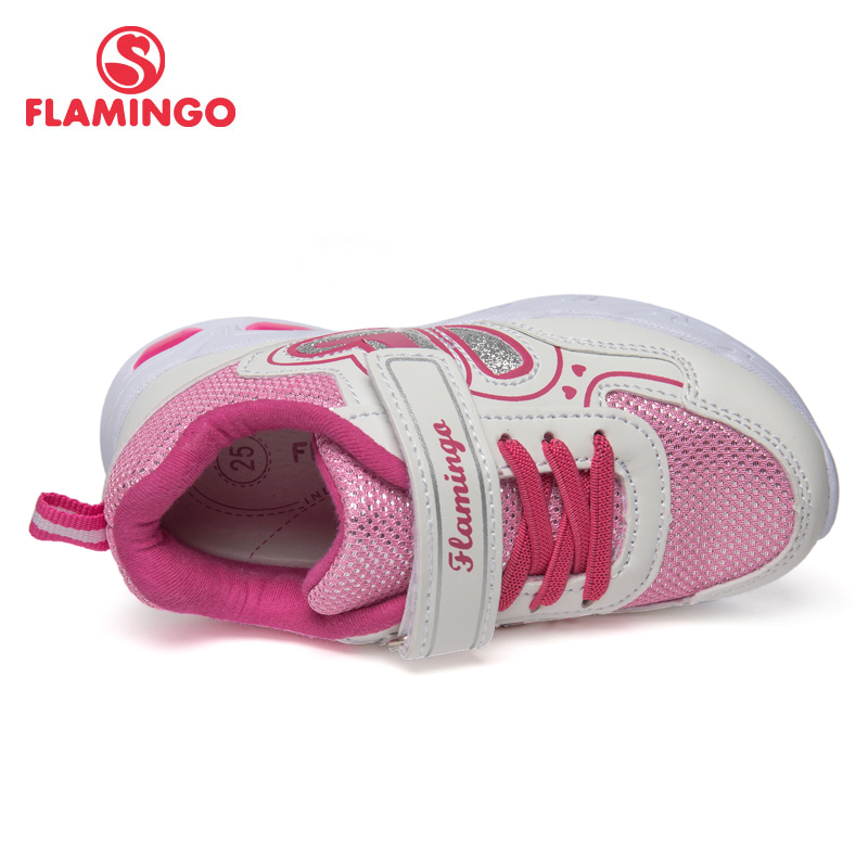 QWEST Brand LED Leather Insoles Breathable Arch Children Sport Shoes Hook& Loop Size 23 29 Kids Sneaker for Girl 91K KS 1232 - 2