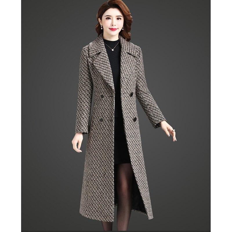 Winter Hohe Wolle Taschen Qualität Zweireiher Lange Mäntel Elegante Kakifarbig Nw1074 Oberbekleidung Casual Weibliche Frauen nrIrS4qxH