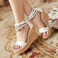 Frete grátis NOVO cunhas sandálias da moda as mulheres se vestem Boêmio sexy sapatos chinelos de venda quente de primavera e verão