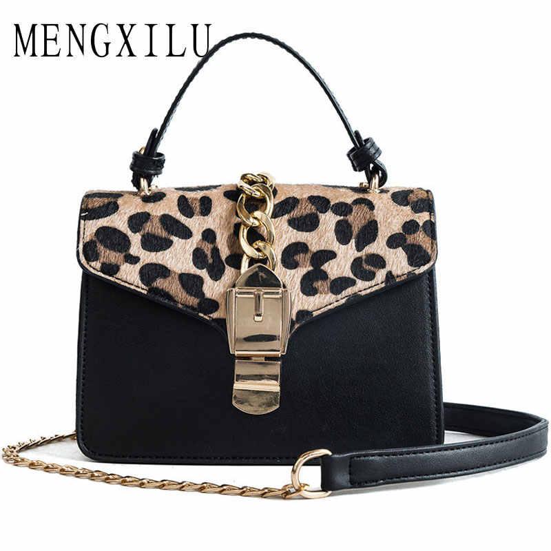 2ed30ec5245a7 High Quality Luxury Handbags Women Bags Designer Ladies Shoulder Bags  Leopard Print Clutch Evening Chain Bags