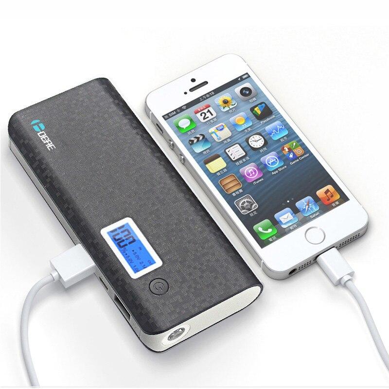 DCAE כוח הבנק 12000mah USB כפולה צג LCD חיצוני סוללה Powerbank מטען נייד לאייפון 6s מחשב לוח
