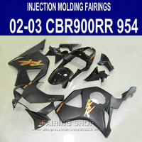 Matte Black Fairing kit For HONDA cbr900rr 954RR 2002 2003 03 02 Fairings Customize sticker free C23