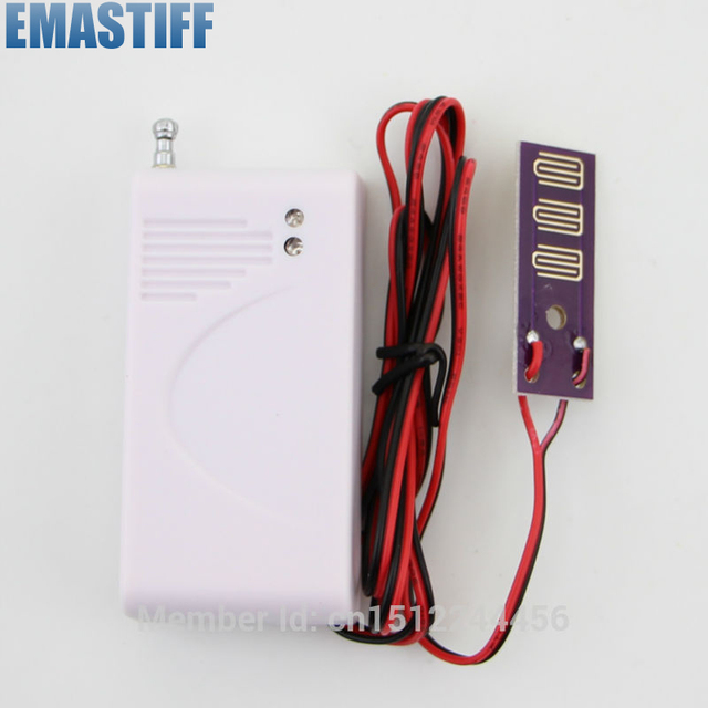 Free shipping Wireless Water Intrusion Leakage Sensor Detector for wireless Security GSM alarm system