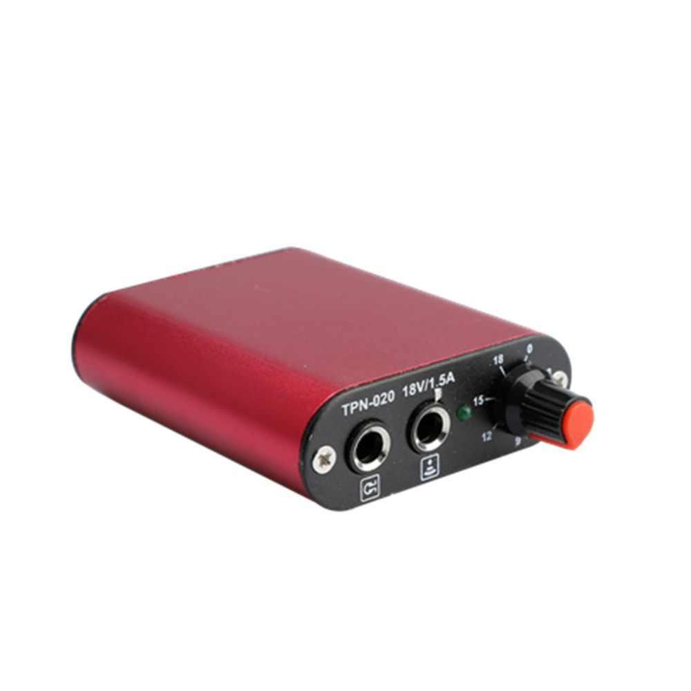 สักพาวเวอร์ซัพพลายชุดมืออาชีพมอเตอร์ไฟฟ้าสีแดงโรตารีคอยล์เครื่องสักขนาดเล็กพลังงานกล่องชุดp Lugสวิทช์เท้าชุด