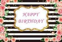 Laeacco Romantic Rose Happy Birthday Party Scene Baby Photography Backgrounds Customized Photographic Backdrops For Photo Studio