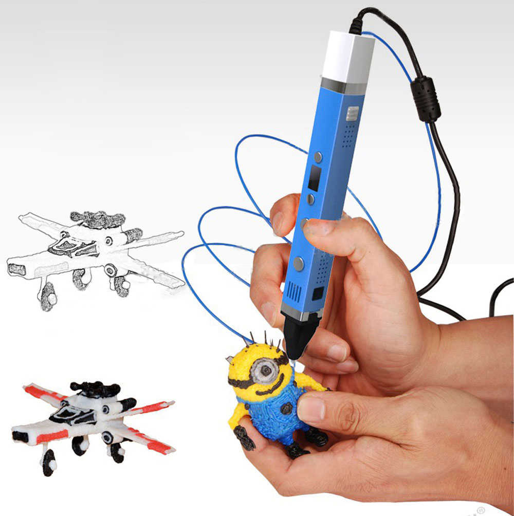 Myriwell 3D pen USB Power 3D Pen Doodler DIY Tekening Smart Tekening Pen + 100 m Filament 3D Pennen voor kids Gift