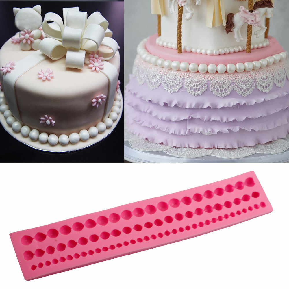 Pearl String Wedding Cake Decorating Tools Moule Silicone Mold Paste Mold Fondant Cake Stand Chocolate Mold Silicone Kitchenware