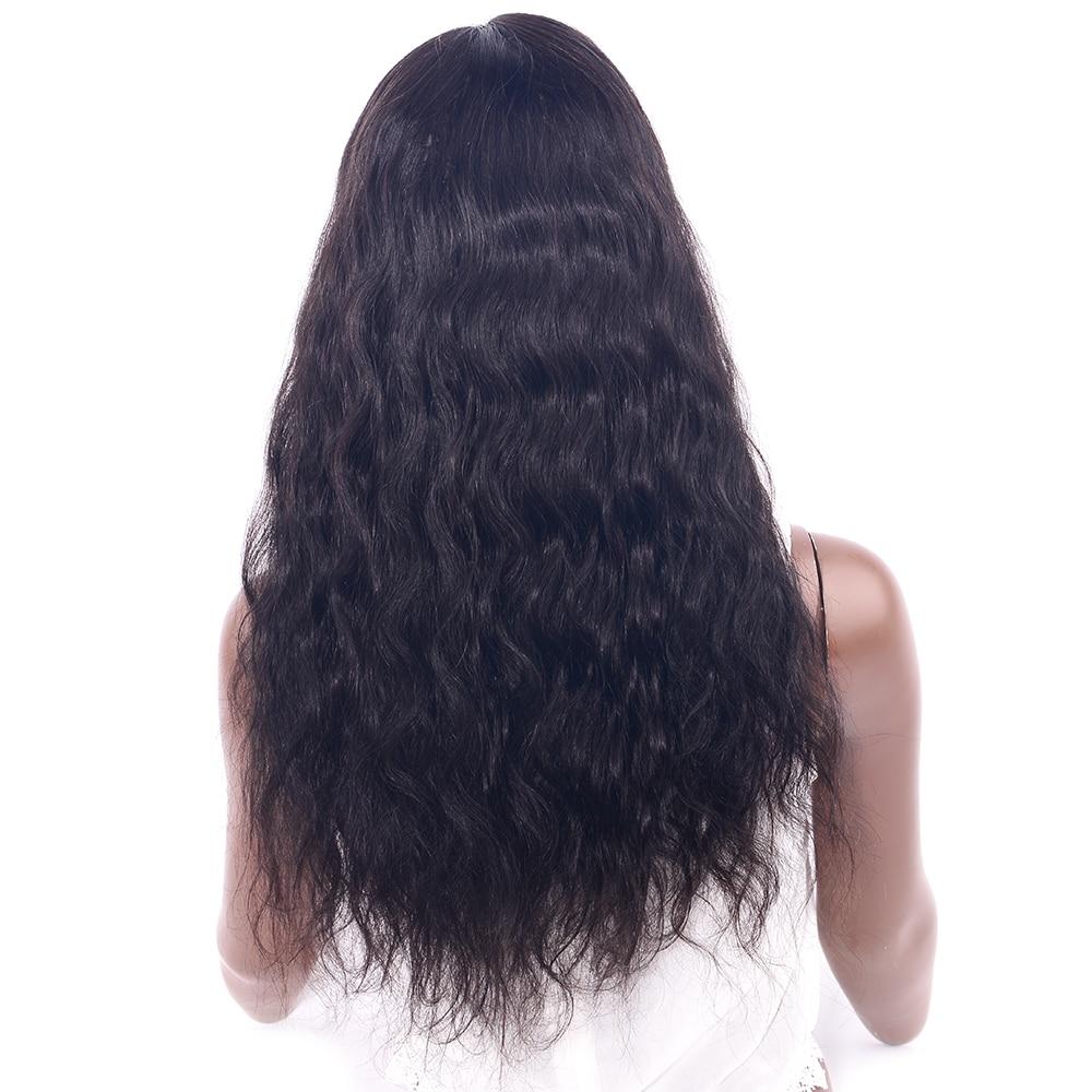 Шоколад бразильский человеческих волос на теле волна 360 кружева парик предварительно сорвал с для волос