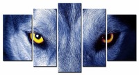 5 Piece Canvas Animal Wolf Pictures Print Oil Wall Paintings Modern Painting On Art Modular Picture
